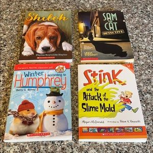 Lot of 4 level 2 chapter books for 2-4 grades